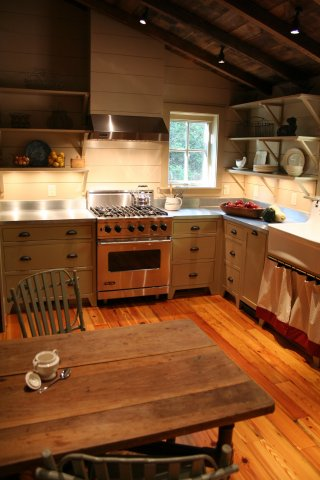 Texas Log Cabin Style, Rustic Interior Style Historic Texas Dog-Trot Log Cabin Restoration
