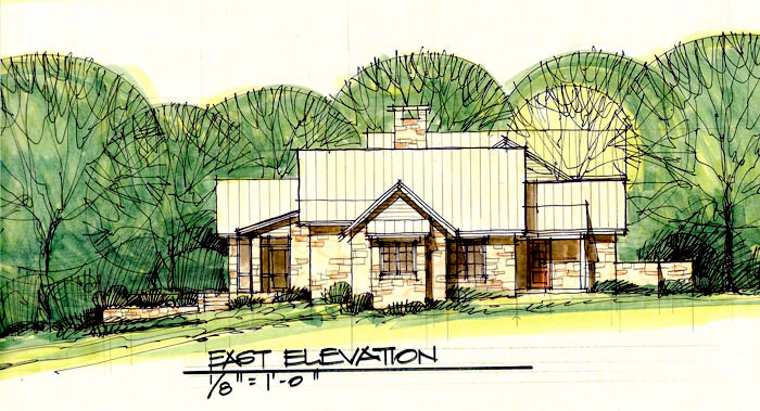 Hill country ranch on the san gabriel river by steve for Hill country ranch home plans