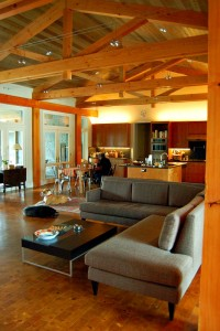 Single level sustainable/accessible Dallas home, designed by Stephen B. Chambers Architects, Inc.