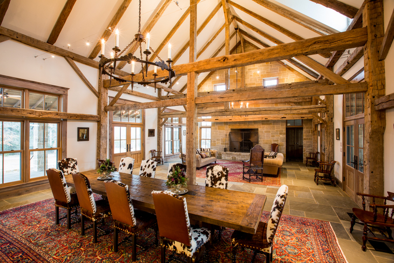 Barn Conversion into Family Room with Rumford Fireplace Interior