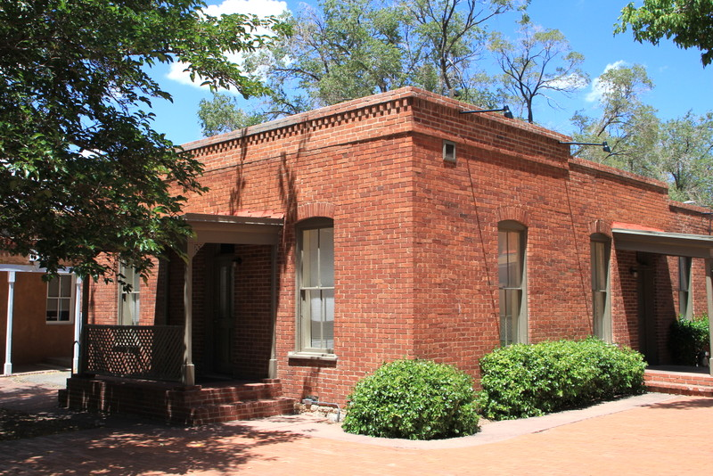 Brick territorial style in santa fe new mexico photo by for Territorial home designs