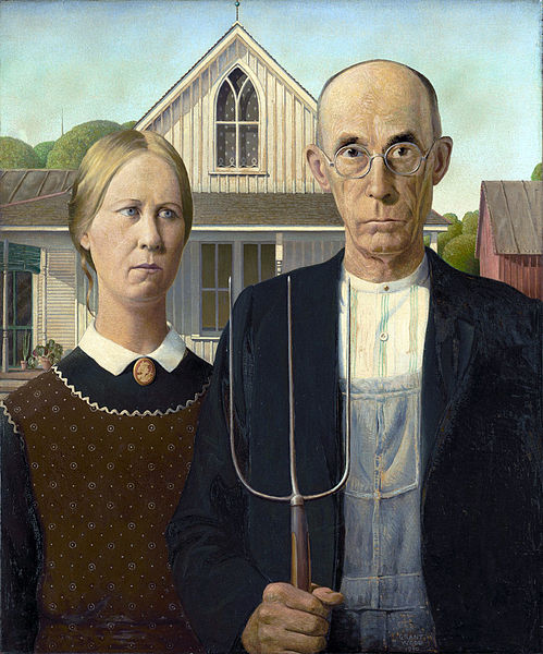 painting by grant wood