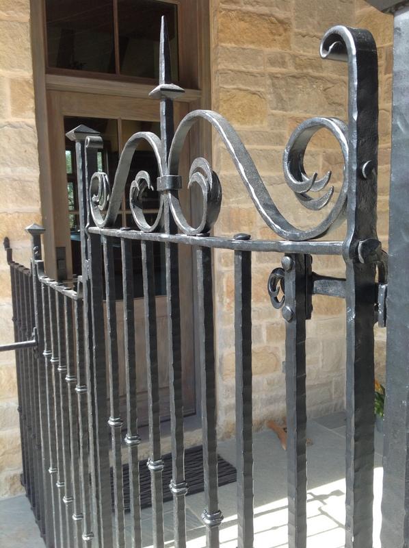 Texas, Oklahoma, Colorado Architect, Steve Chambers. Fence Design, Dallas Architect, Texas Architect, Sketch, Wrought Iron Design,