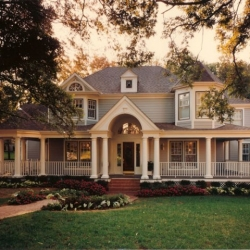 Queen Anne Victorian Home. Design by Dallas Architect, Steve Chambers, A.I.A., Specializing in Custom Homes in Texas and Oklahoma.