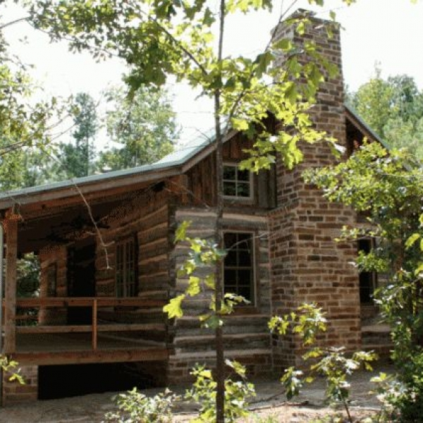 Historic dogtrot log home by stephen b chambers architects for Log cabin plans texas