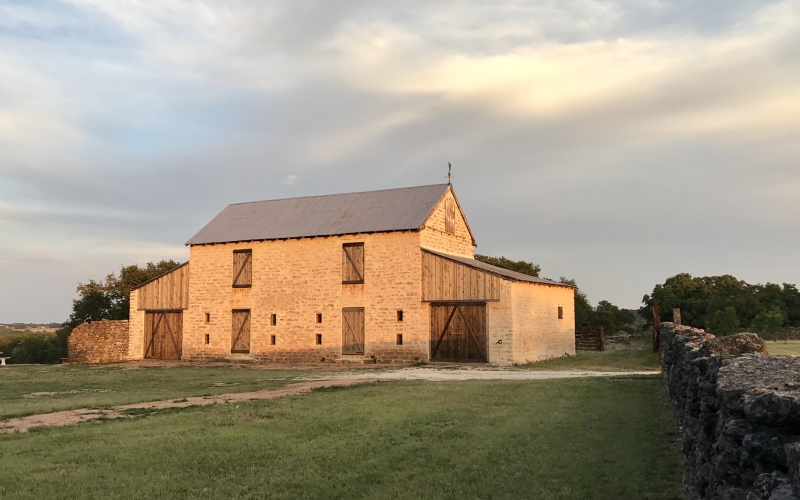 Rustic Stone Barn Preservation by Oklahoma Ranch Architect Steven B. Chambers Firm Firms