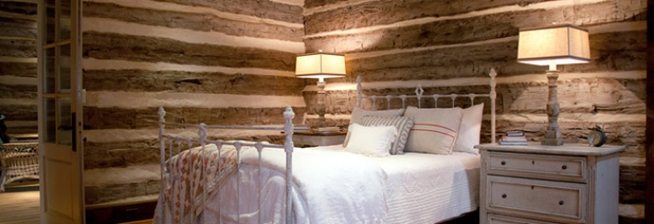 Log Cabin Bedroom Made From Live Oak Logs Stephen B Chambers