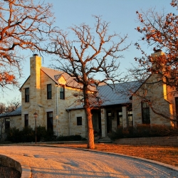 Limestone Facade of Wild Oaks Ranch. Steve Devotes his time to Custom Homes and Ranches in Texas and Oklahoma.