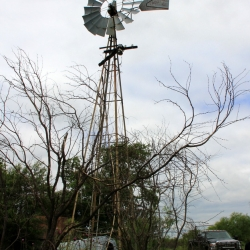 Vintage Windmill Near Sherman, Texas