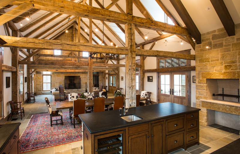 Timber Frame Ranch House, Rustic Country Home Style. Rustic Country Home Decorating Ideas. Historic Farms and Ranches. Historic Ranch Structures. Historic Farm and Ranch Complexes. Timber Frame Home Design. Timber Frame Home Style. Texas, Colorado, Oklahoma Architect. Rustic Ranch House Design, Ranch Home Interior Design, Living Room Ceiling Beams, Barn Reuse, Exposed Timber Family Room, Ceiling Beams, Texas Residential Architect, Texas House Designs, Texas House Designer, Dallas, Architecture Firm, Texas Architects, Texas Architect, Oklahoma Architect, Colorado Architect
