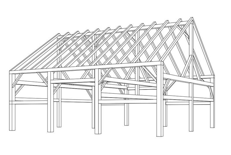 Dallas Architect. Texas Home Design Architect, Barn Frame Drawing Texas Oklahoma Ranch Architect