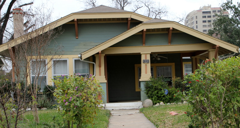 Arts and Crafts, Oklahoma architect. Texas architect.