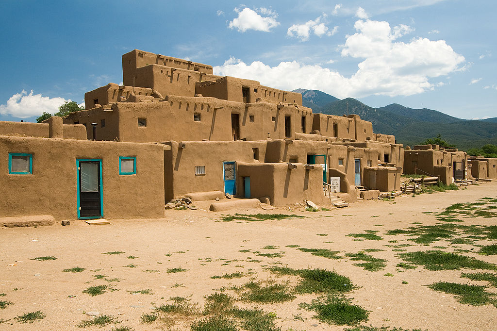 Pueblo Architecture In Taos New Mexico