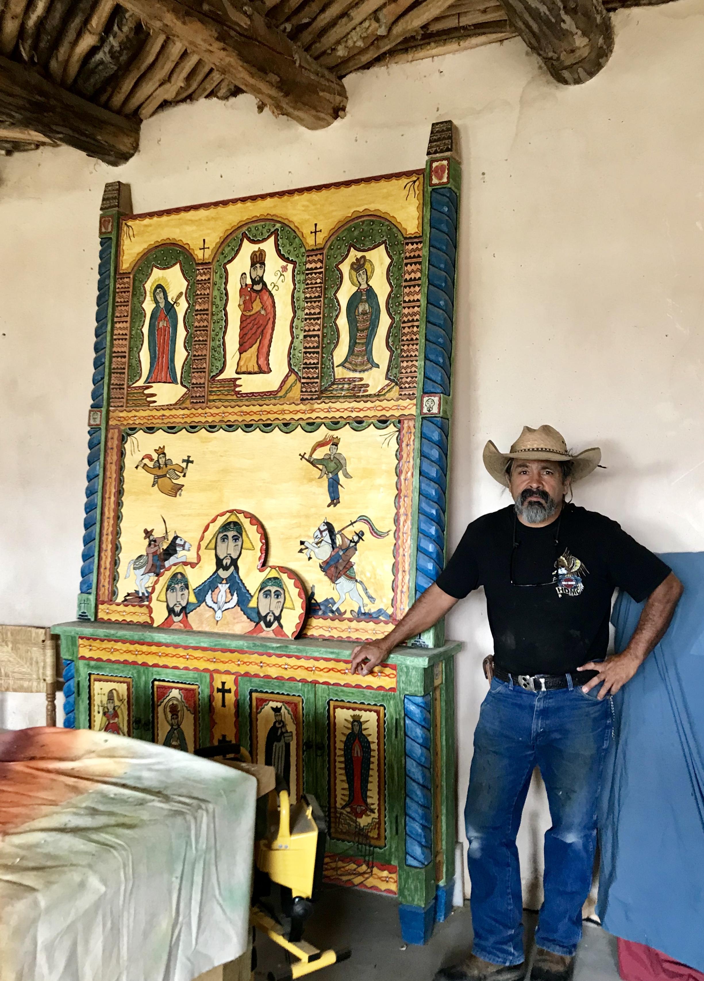 Outsider Art in Interior Design, New Mexico Folk Art in Interior Design, Santeros in Interior Design, New Mexican Bultos, New Mexican Retablos, New Mexican Santero