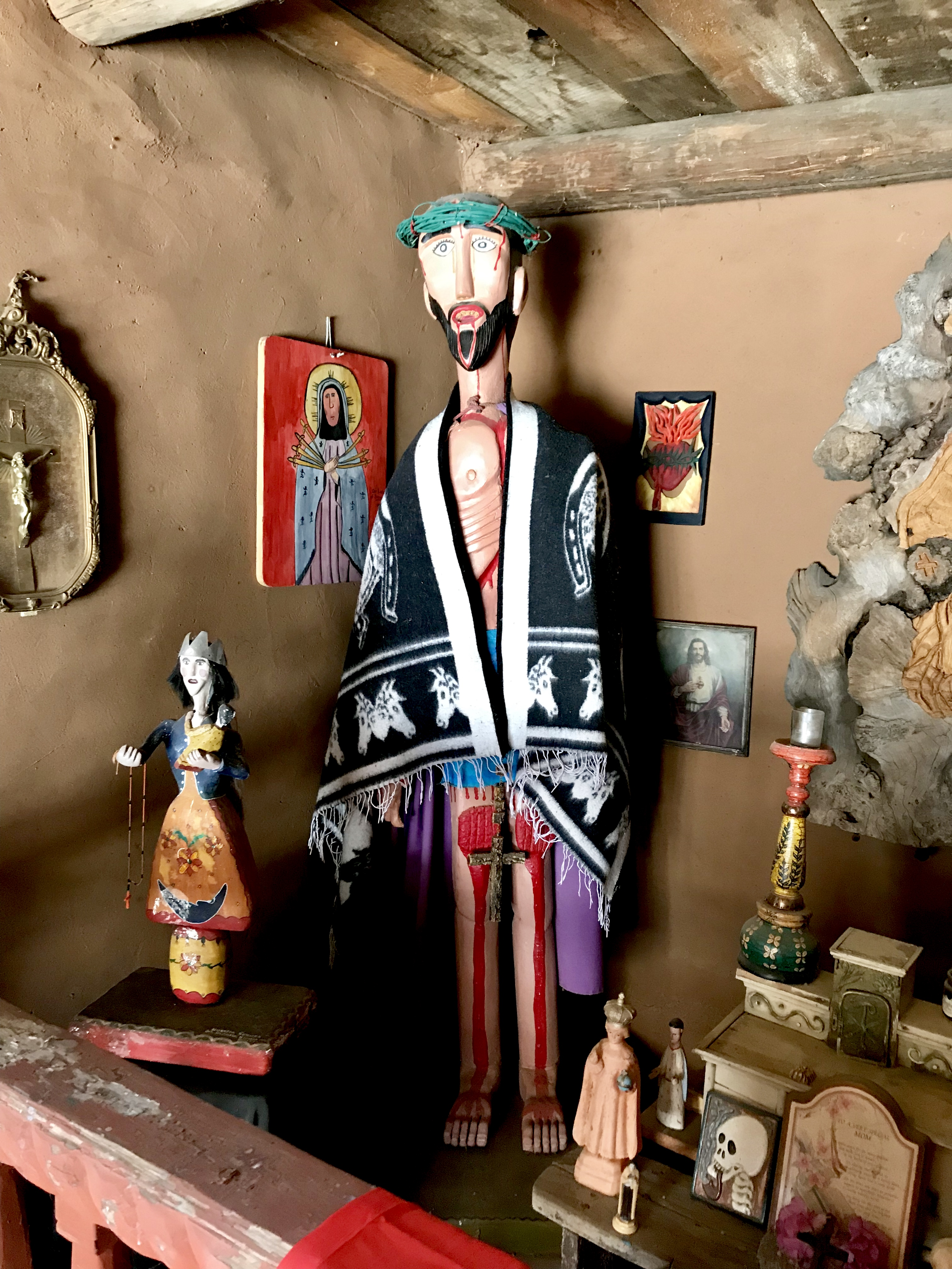 New Mexico Outsider Art, New Mexican Bultos, New Mexican Retablos, New Mexican Santos, New Mexican Santero