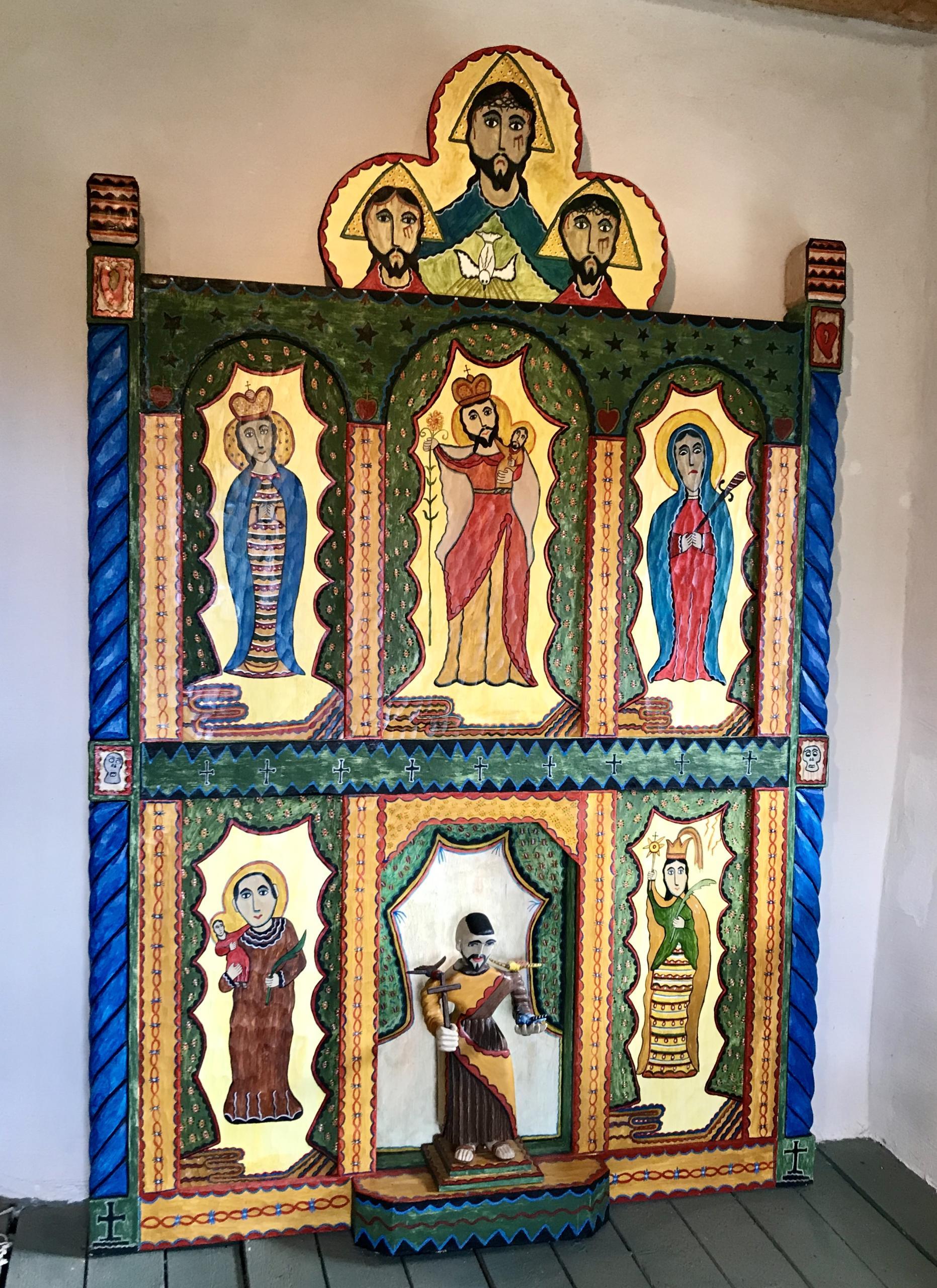 Outsider Art in Interior Design, New Mexico Folk Art in Interior Design. New Mexican Santero.