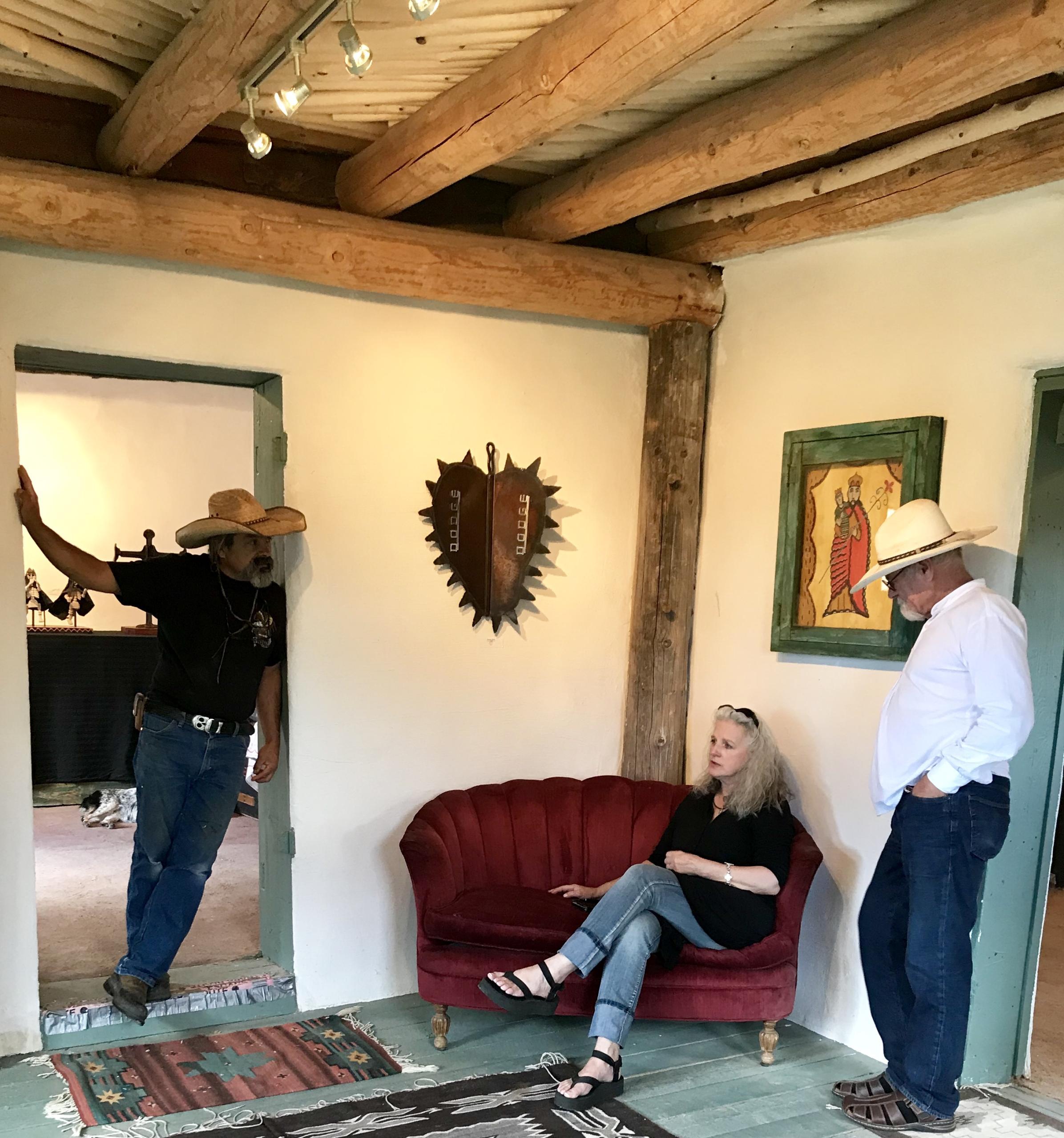 Outsider Art in Interior Design, New Mexico Folk Art in Interior Design, Santeros in Interior Design. New Mexican Santero.