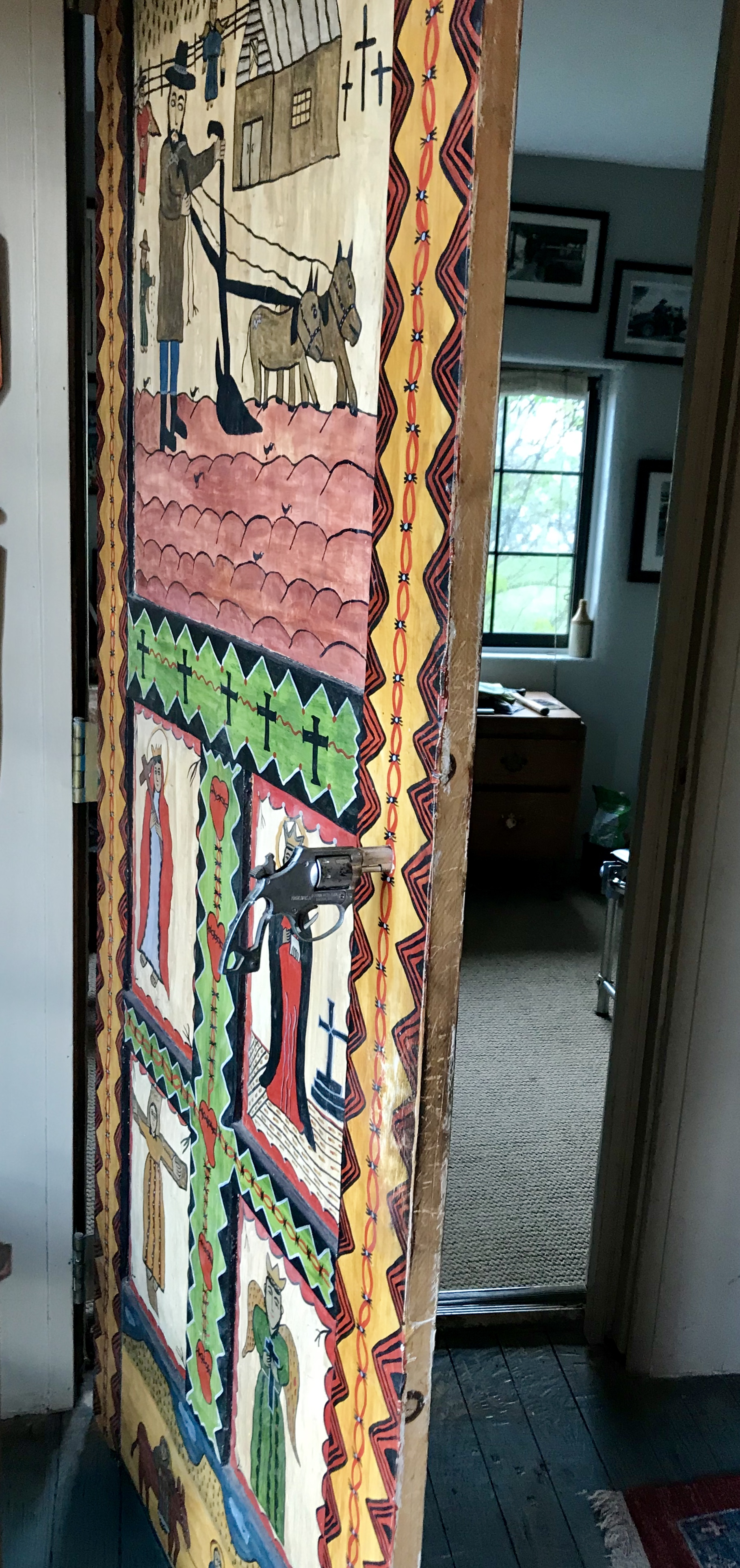 Outsider Art in Interior Design, New Mexico Folk Art in Interior Design, Santeros in Interior Design, New Mexican Bultos, New Mexican Retablos, New Mexican Santos, New Mexican Santero