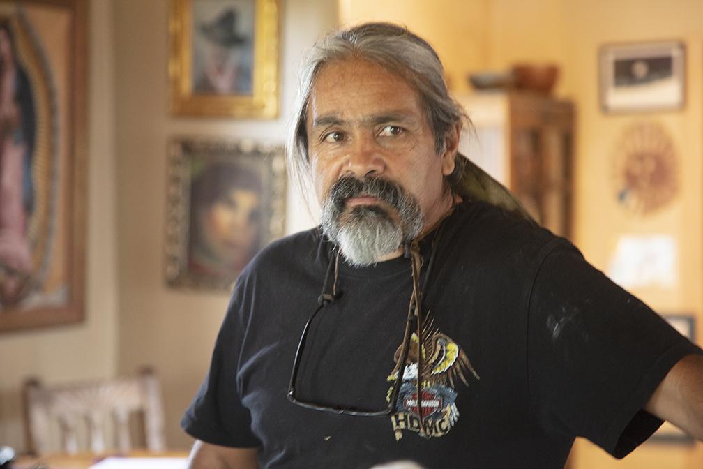 Outsider Art in Interior Design, New Mexico Folk Art in Interior Design, Santeros in Interior Design. New Mexican Santero
