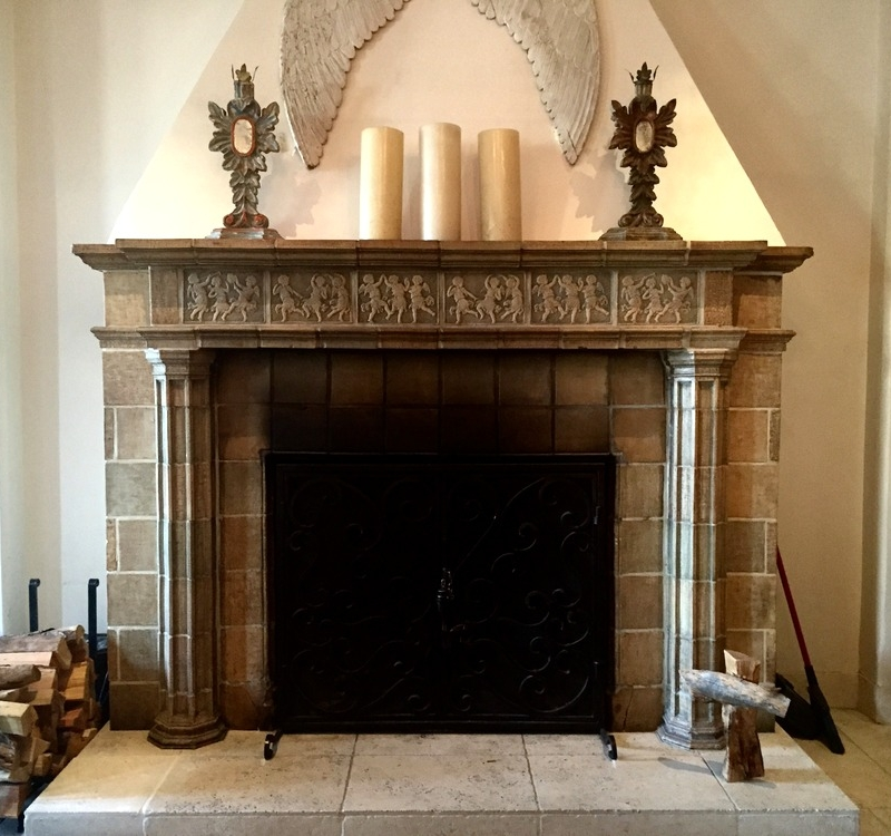 st francis fireplace