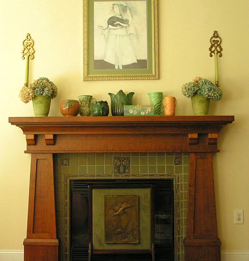 art nouveau, Fireplace, Classic, Arts and Crafts, Oklahoma architect. Colorado architect. Texas architect.