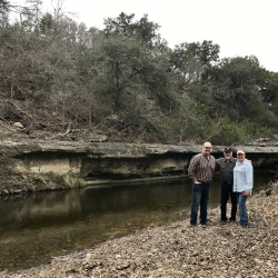 Steve Chambers with Owners at Bell County Ranch Home Site