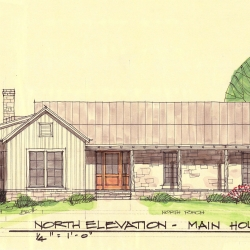 Elevation for Renovation of Historic Texas Home