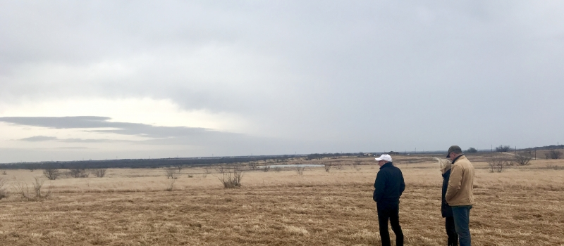 Texas Architect, Steve Chambers visits new home site in Ellis County, Texas.